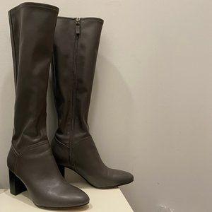 Franco Sarto knee-high boots, grey, size 7.5/37.5